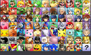 Smash Bros. for 3DS with 76 Characters (by series) by ConnorRentz