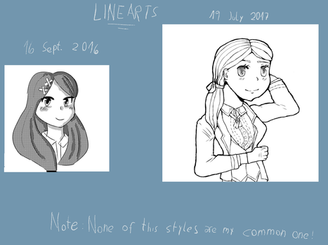 Before and After- Lineart by Bluzumara