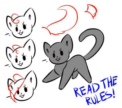 Free Cute Cat Base - MS Paint Friendly by CryingFurry