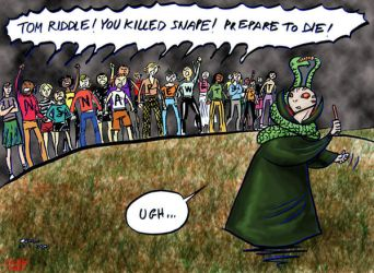 How was Voldy really defeated by cabepfir