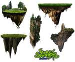 Floating Island PNG Pack by DonkeySneakers by DonkeySneakers