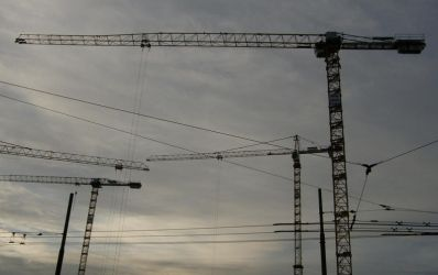 Cranes and Lines I by Gwathiell