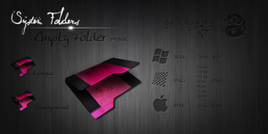 Pink Empty Folder by Drawder