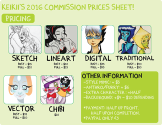 *UPDATED COMMISSION SHEET* 2016 Version by xXimmaeatjooXx