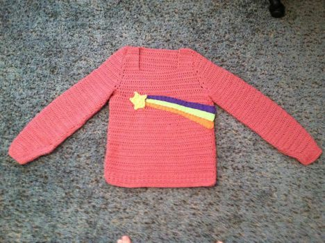 Mabel pines crochet cosplay sweater! by adorkablecrafts