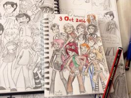THE COMIC'S SECOND ANNIVERSARY!! by ravenviolet777