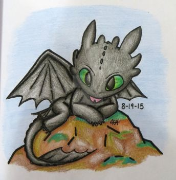 Toothless Chibi by JoyfulJ