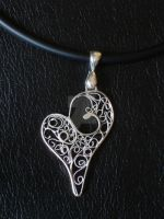 Sterling Silver Filigree Heart by GrandGlimmers