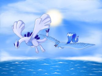 Birthday Present For Lugia by Articuno