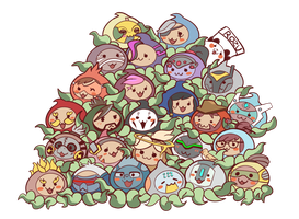Pachimari Overwatch heroes by RozuPandy