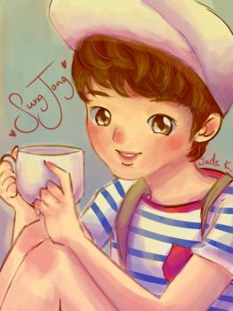 Infinite Sungjong - Tea Cup by Jadekyy