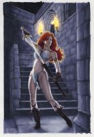 Red Sonja cover by AllisonSohn