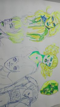 some doodles by thedrumergirl