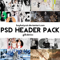 PSD HEADER PACK by BoyKatyCat