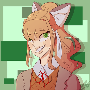 A little bit of Monika in my life  by Sheepaleepz