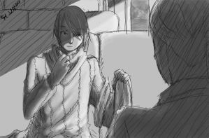 In the train car. by Cotton-Keyk