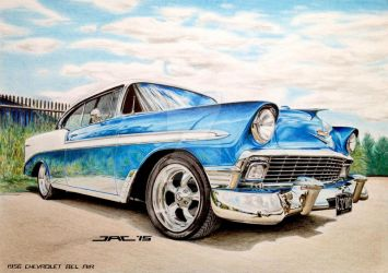 1956 CHEVROLET BEL AIR by krzysiek-jac
