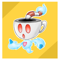 Cuphead The Pokemon by thegreatrouge