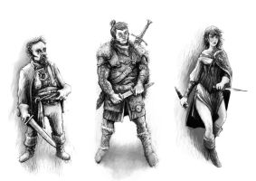 Fantasy characters by Ecthelion-2