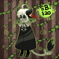 HALLOWEEN Adopt Auction- Poison Shadow [CLOSED] by AdorkableMarina