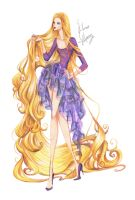 Fashion Rapunzel by frozen-winter-prince