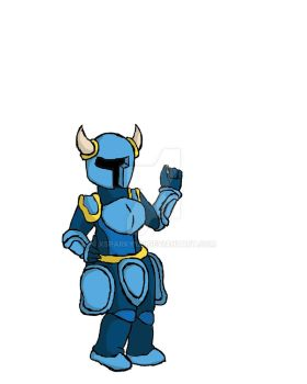 Female Shovel Knight Has A Quarter For You. by xsparky123