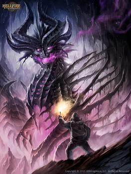 Terrandor HellFire the deep evil by Chaos-Draco