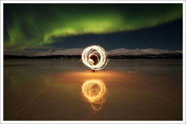 On the ice - Northen Lights by kongdaniel