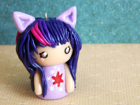 Twilight Sparkle Chibi Girl Charm by Xiiilucky13