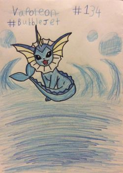 Vaporeon, The Bubble Jet by Minkiepieisbadass