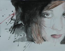 Me in watercolor by Reshmie
