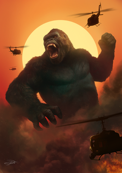 Kong: Skull Island illustration by yinyuming