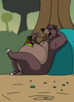 Baloo kicking back by b1k