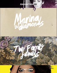 +The family jewels font / Marina and the diamonds by RADIANTWH0R3