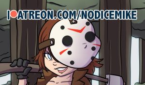 Jason Voorhees Bishoujo illustration on Patreon by NoDiceMike
