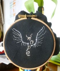Hope embroidery WIP by BellaGBear