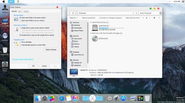 Mac OS X El Capitan theme for Win7 by hamed1987s
