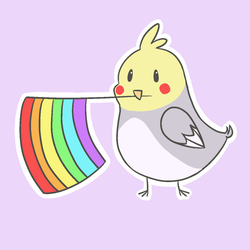 pride bird sticker by popfiish