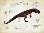Hyperendocrin Dilophosaurus by Tapwing