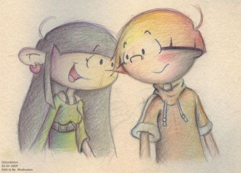 Colour Pencil - Wally and Kuki by OrionStorm