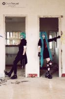 Mikuo and Miku - Come on by Sora-Phantomhive