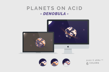 Planets on Acid 'DENOBULA' Wallpaper 5120X2880px by dpcdpc11