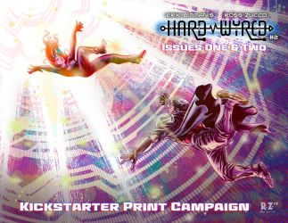 Hard Wyred 1+2 Kickstarter Campaign sleeve Colors by ZUCCO-ART