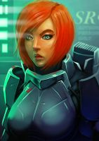 Femshep FanArt by BlackHawk45LC