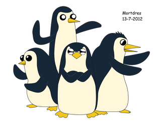 The Penguins of Aventure Time by Mortdres