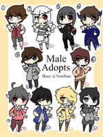 Male adopt batch [8/10 CLOSED/PRICE LOWERED] by Potoisawesome