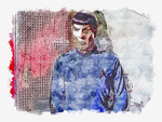 Spock Watercolor by Richard67915