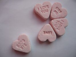 Candy Hearts by TeufelsweibStock