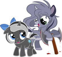 Moongaze and Nabbie by MoongazePonies