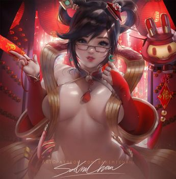 Lunar Mei Pinup .nsfw preview. by sakimichan